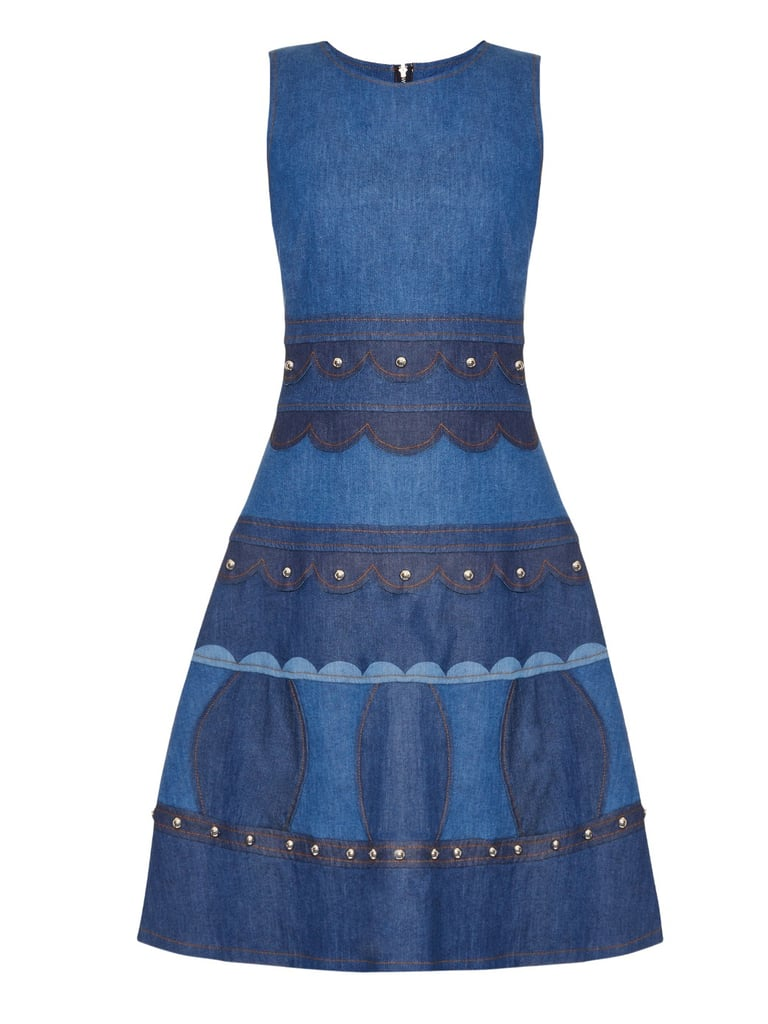 REDValentino Studded sleeveless denim dress ($1,150)
