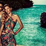 Gisele stuns in a tropics-inspired Salvatore Ferragamo. Source: Fashion Gone Rogue
