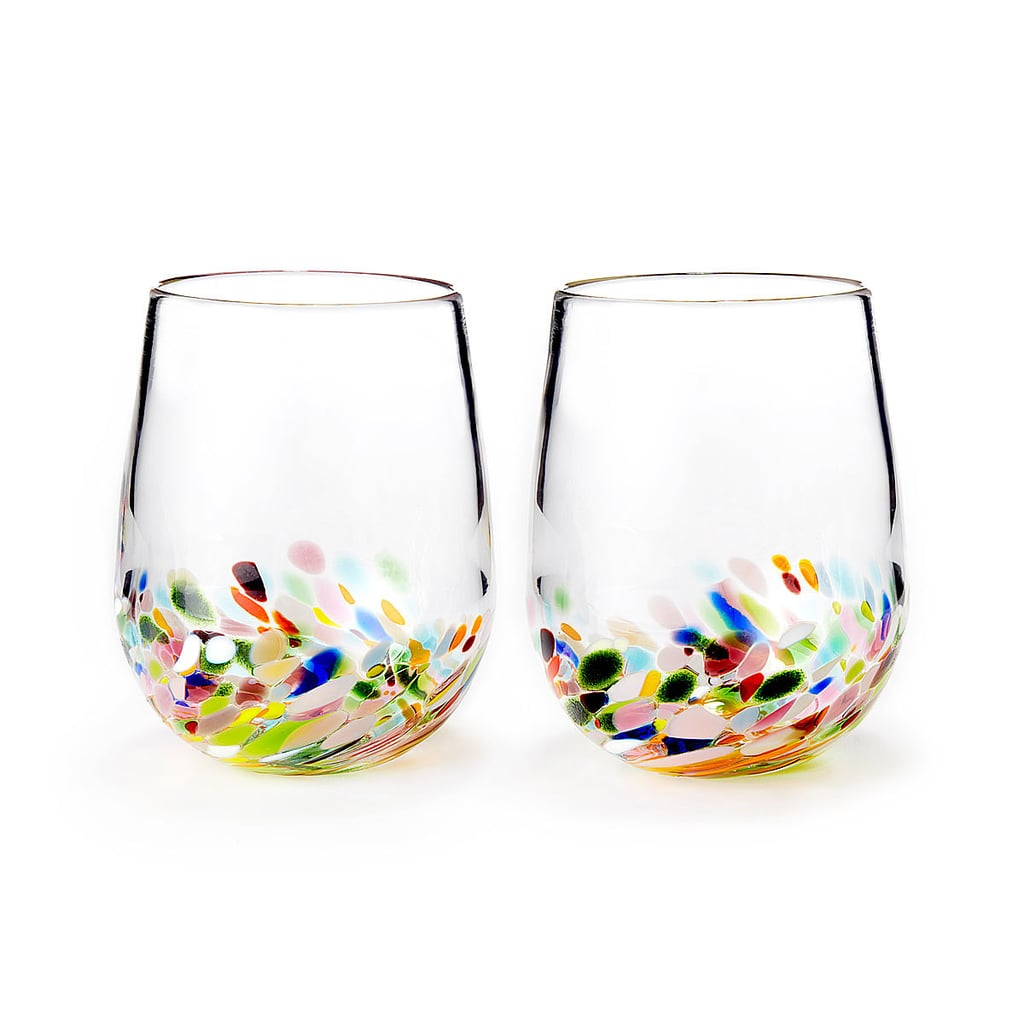 Rainbow Band Recycled Glasses ($80 for set of two)