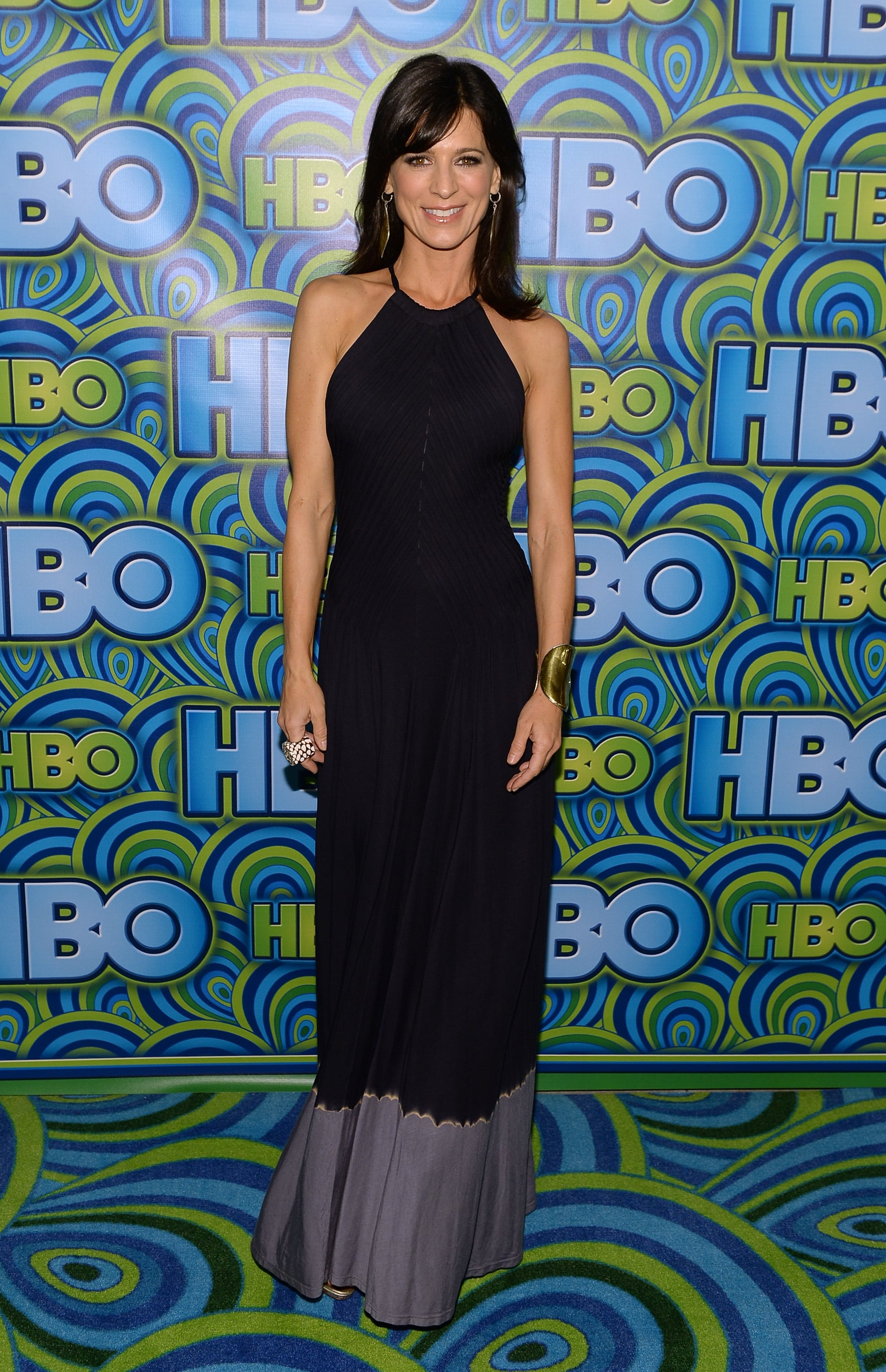 Perry Reeves bared her shoulders in a minimalist halter dress at the HBO afterparty.