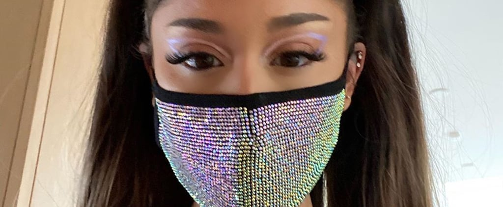 Shop Ariana Grande's Rhinestone Face Mask From Get Stonned