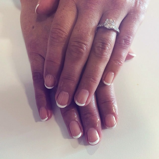 Classic French Tips Wedding Manicure Ideas Popsugar Beauty Photo 16