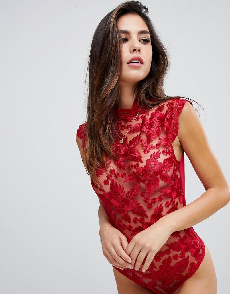 Lipsy Nora Lace Sleeveless Bodysuit