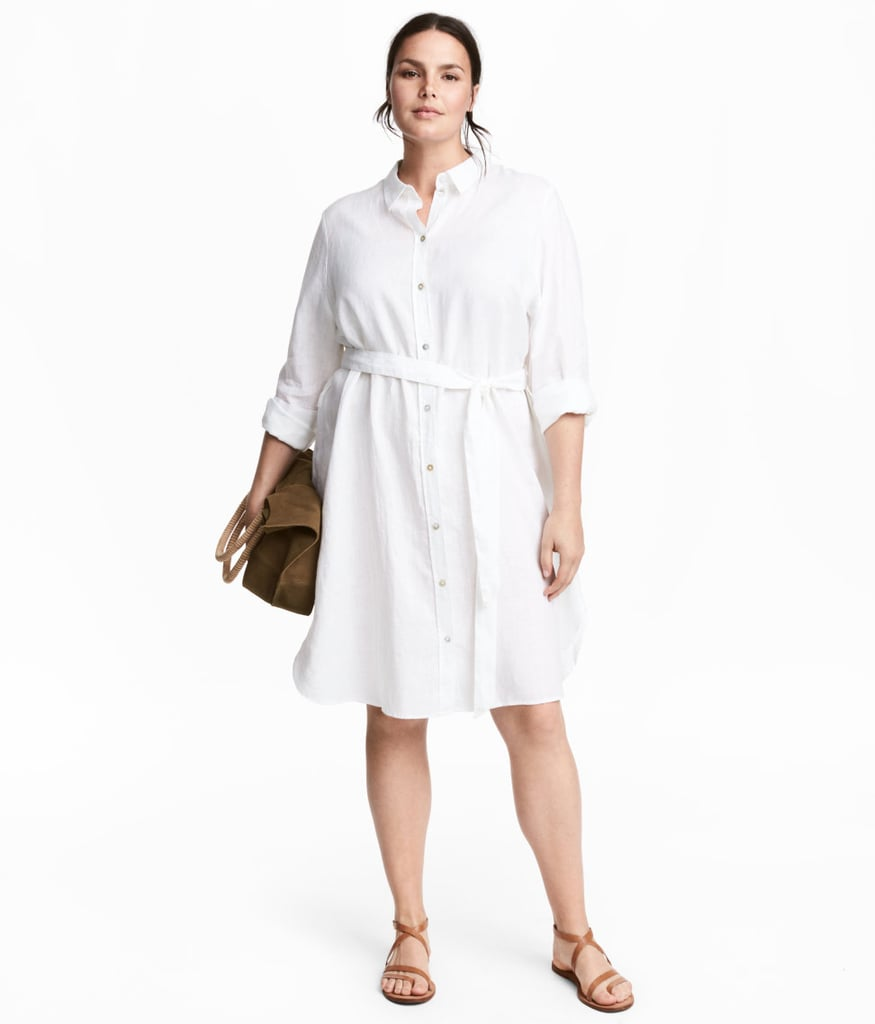 Hm Linen Shirt Dress Hm Sale Popsugar Fashion Photo 5