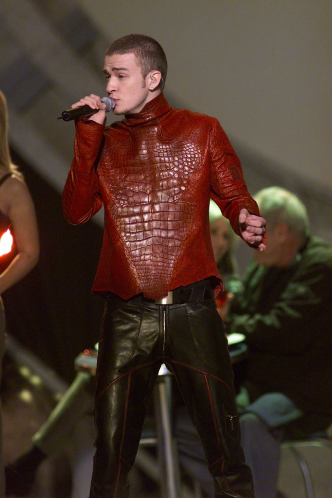 Justin performed at the Grammy Awards in 2001.