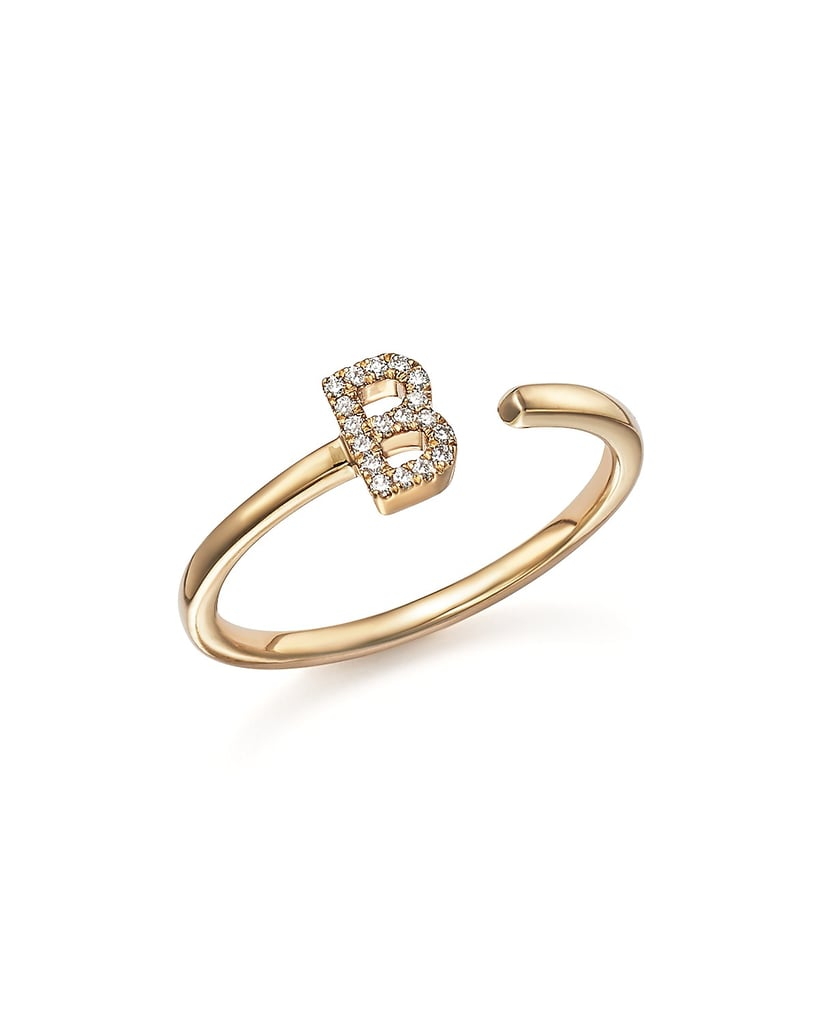 Dana Rebecca Designs Diamond Initial Ring