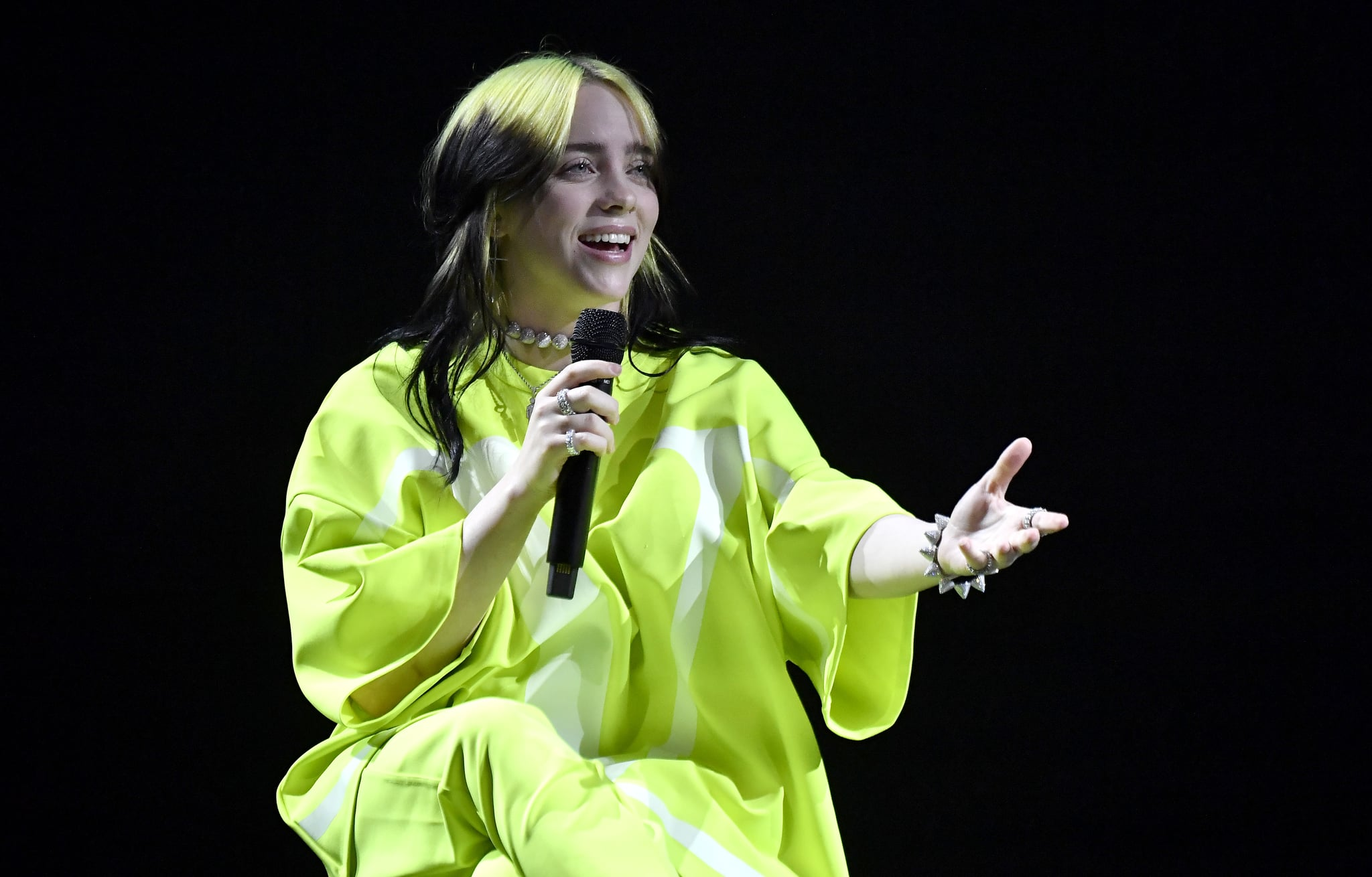 LOS ANGELES, CALIFORNIA - JANUARY 23: Billie Eilish performs onstage at Spotify Hosts