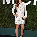 The star showed off her long, toned legs at a Michael Kors event, celebrating the launch of Claiborne Swanson Frank's book Young Hollywood.