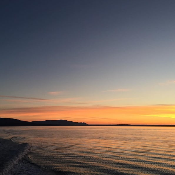Supernatural Stars Jensen Ackles and Misha Collins Take a Sunset Boat Ride