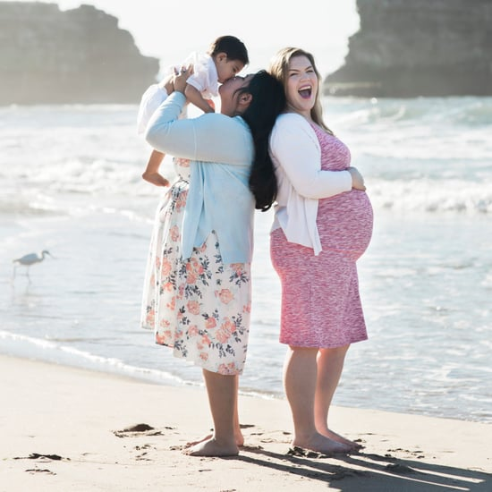 Same-Sex Couple's Beach Maternity Photos