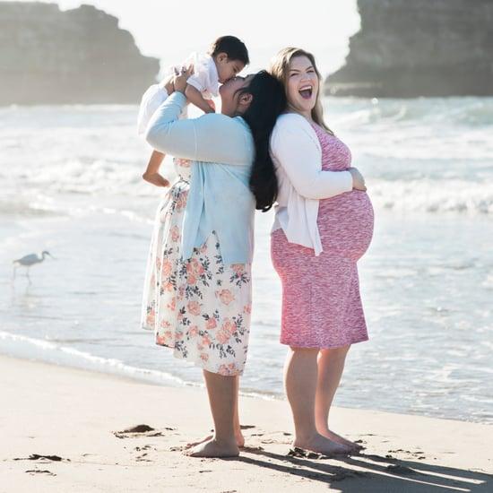 Same-Sex Couple's Beach Maternity Photos