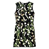 Black English Floral Satin Dress ($35)