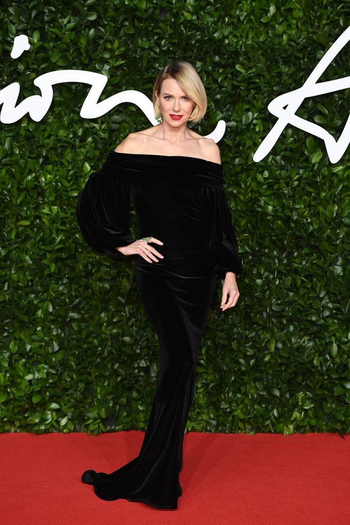 Naomi Watts at the British Fashion Awards 2019