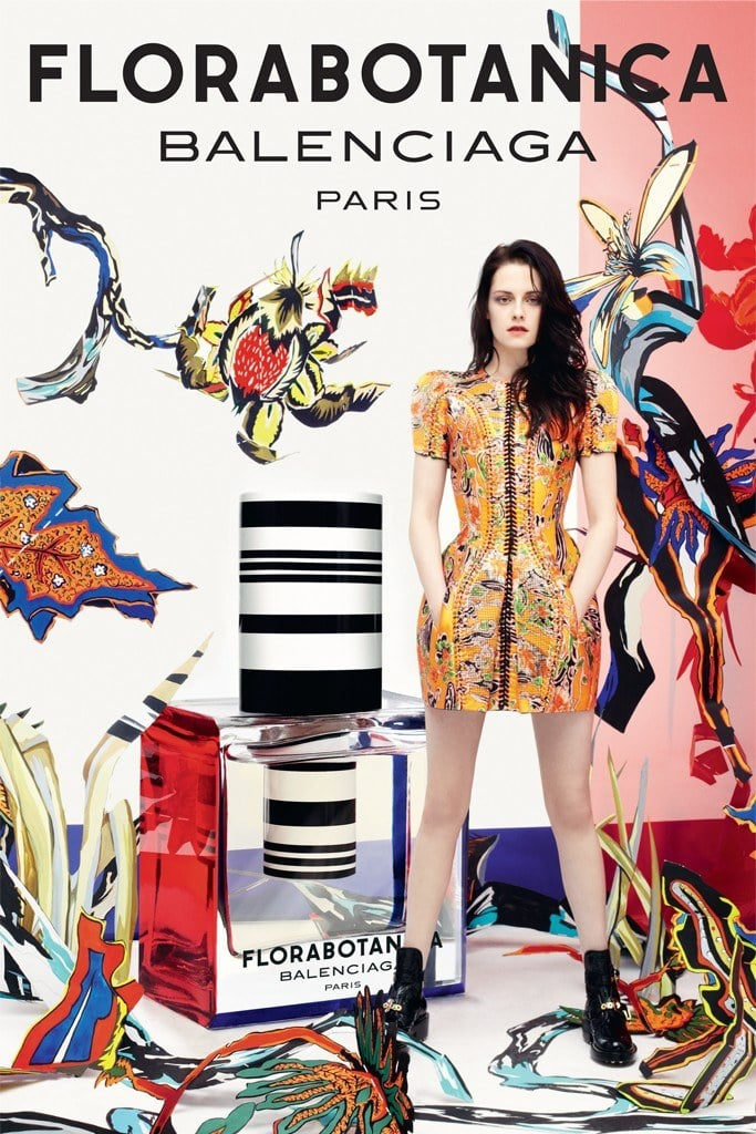 Kristen Stewart is the face of Balenciaga's fragrance Florabotanica — we can't get enough of the brand's iconic nod to its Spring 2008 collection by way of Kristen's floral-infused dress.