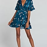 MUMU Evelyn Mini Wrap Dress