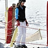 Pippa Middleton entered the lift on the mountain in France.