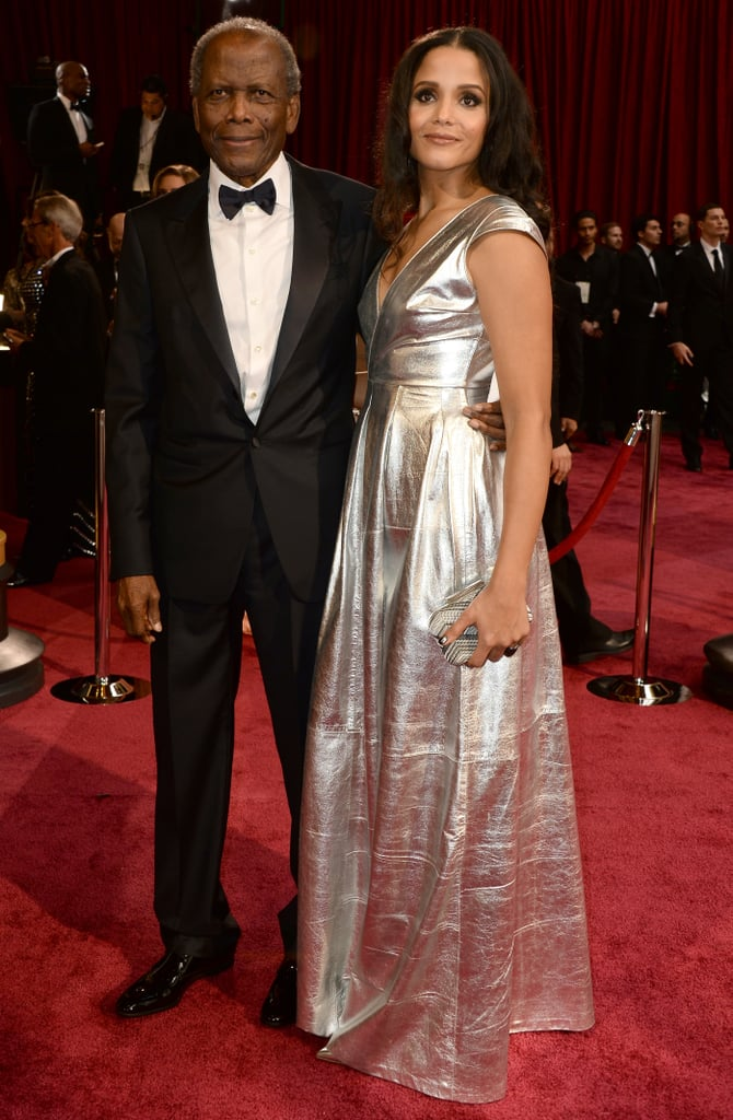 Legendary actor Sidney Poitier hit the Oscars red carpet with his daughter Sydney.