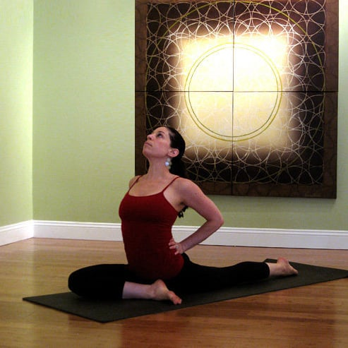 yoga poses to relieve it band pain  popsugar fitness