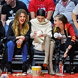 Khloé, Kendall, and Cara Brought Major Glamour to the Court