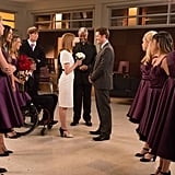 "Glee What happens:  Rachel has her callback for Funny Girl. Blaine begins to seriously consider proposing marriage to Kurt and buys a ring. The New Directions dominate and take first place at Regionals. Will and Emma have a surprise wedding ceremony in the choir room.  Most shocking moment: Unique reveals that he's ""Katie,"" the girl Ryder has been talking to online for months."