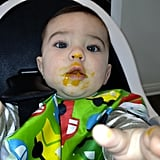 Molly Sims's son, Brooks, graduated to solid foods — and looked like he enjoyed them! Source: WhoSay user mollysims