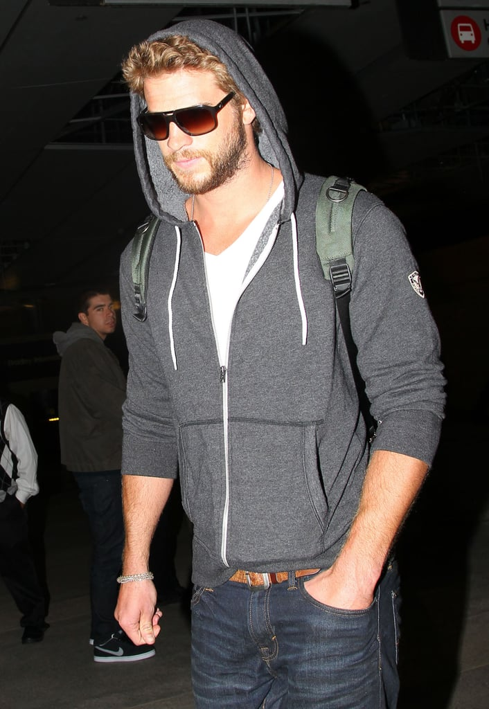 Liam Hemsworth returned to California after taking a trip to Australia and Manila.