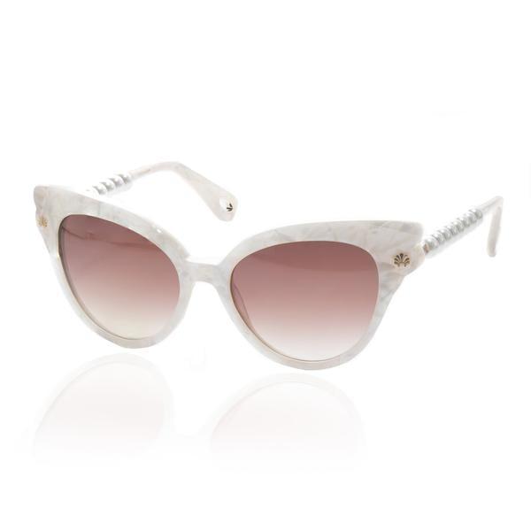Lele Sadoughi Pearl Cat Eye Sunglasses