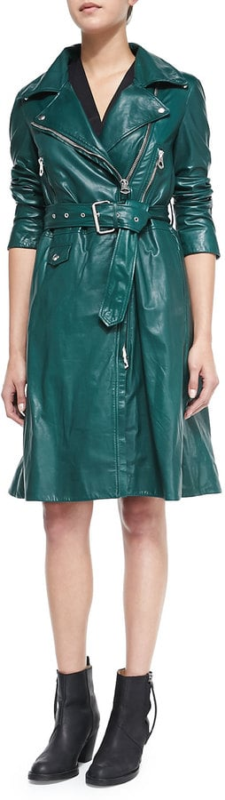 Acne Studios Fit & Flare Leather Trenchcoat ($3,700)