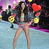 Sara Sampaio was as animated as her costume.