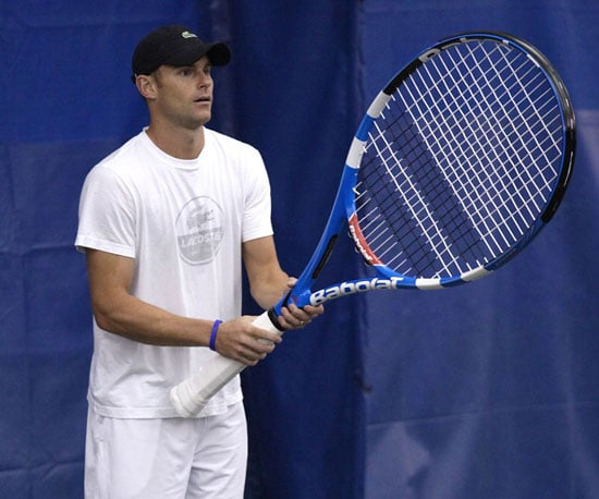 Slide Picture of Andy Roddick at a US Open Event in NYC
