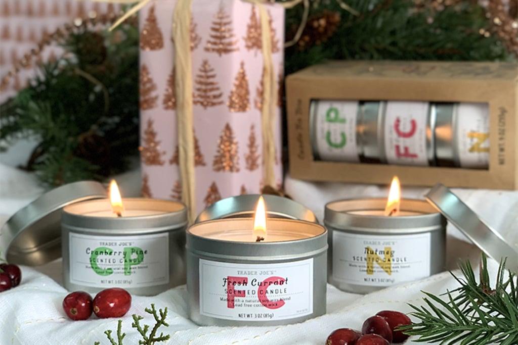 Holiday Candles at Trader Joe's 2019