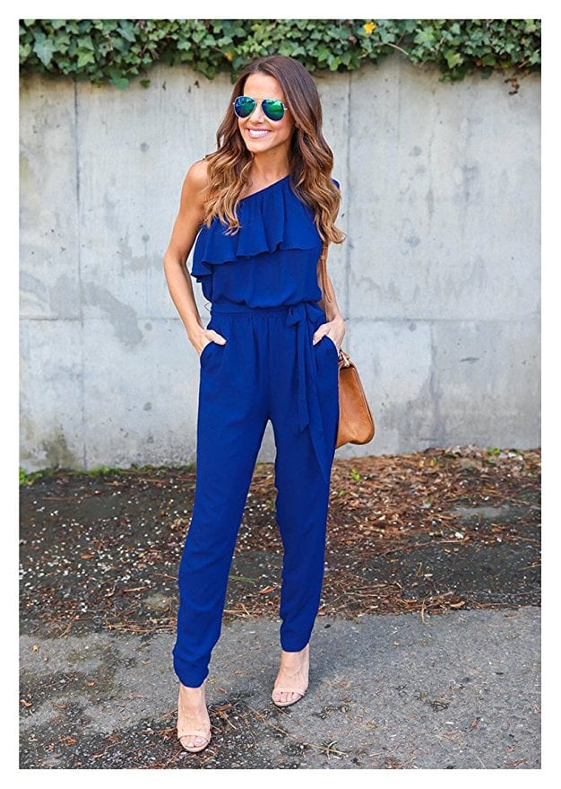 Vilover One-Shoulder Ruffle Jumpsuit