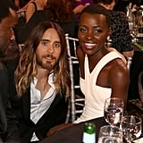 The night that started it all: Jared gets snapped kneeling beside Lupita during the Critics' Choice Awards in 2014.