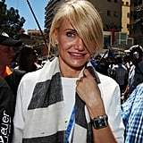 Cameron Diaz walked through the crowd in Monte Carlo.