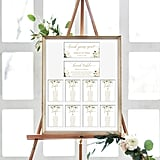 Cream Watercolor Wedding Seating Board