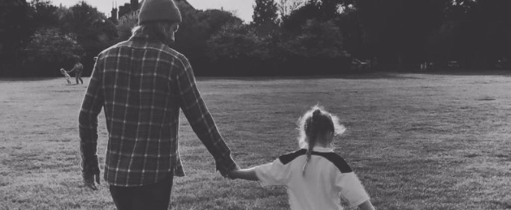 David Beckham Playing Soccer With Harper Instagram Video
