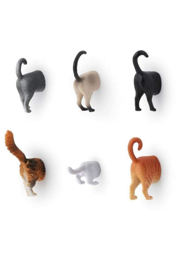 Kikkerland Design Cat Butt Magnets ($12)