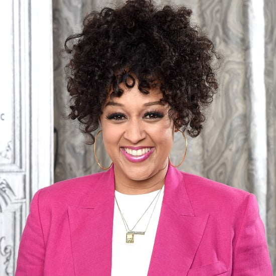 See Tia Mowry's New Blond Hair Color and Bangs Hairstyle