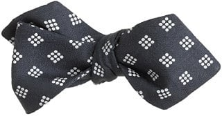 Spot diamond bow tie
