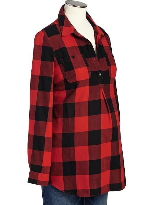 Old navy maternity buffalo plaid flannel shirt 28 for Where to buy cheap plaid shirts