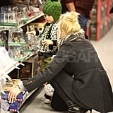 Gwen Stefani and Zuma shopping.