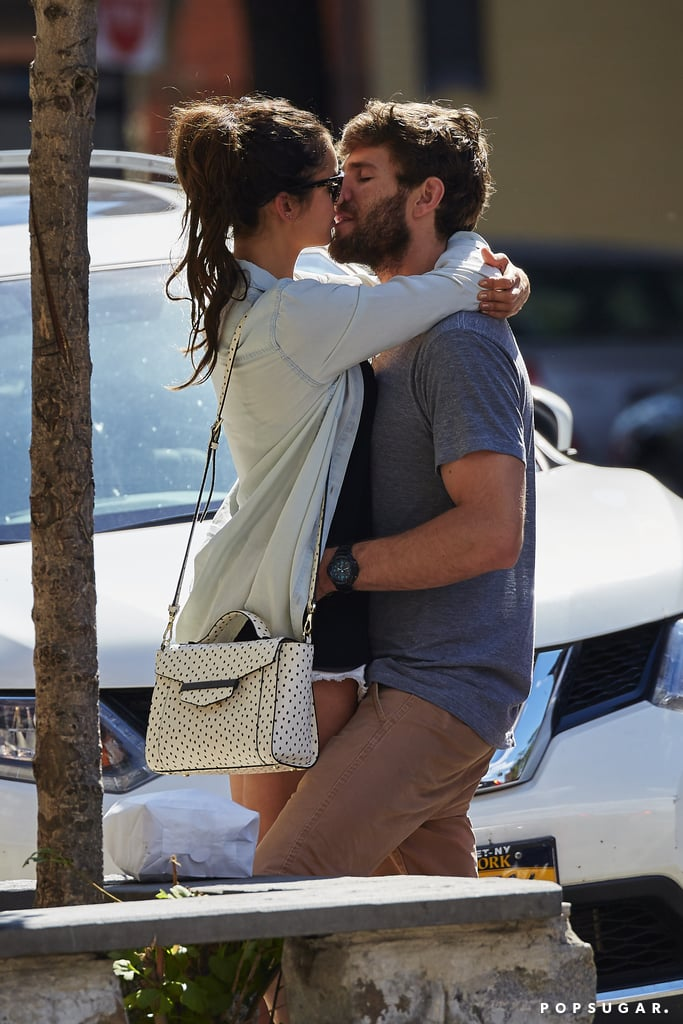 Parting was not such sweet sorrow for Nina Dobrev and Austin Stowell, who were spotted packing on the PDA while saying their goodbyes in NYC on Thursday. The former Vampire Diaries star kept her arms wrapped around her new man as they shared steamy kisses on the street and couldn't help but giggle as Austin nuzzled her neck. Nina and Austin, a TV and film actor, reportedly began dating back in June, though we first saw them together in late July during a supersexy vacation in St.-Tropez; the couple couldn't keep their hands off of each other while hanging out on a yacht and riding jet skis with friends. It's safe to say that Nina is having a great Summer since leaving her hit CW show after six seasons. Keep reading to see Nina and Austin's PDA-filled goodbye.