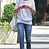 Cameron Diaz was texting on her phone while she walked around NYC.