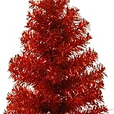 National Tree 2 Foot Red Tinsel Tree With Plastic Stand
