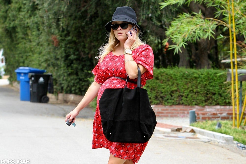 Pregnant Reese Witherspoon stepped out in red.