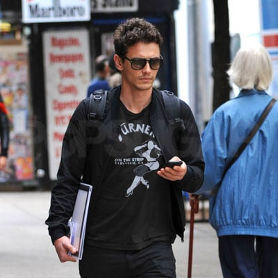 James Franco Walking Around NYU