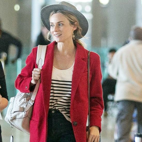 Diane Kruger Wearing Red Blazer