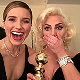 """""""our girl WON!! #OneChicago alright! you @ladygaga #goldenglobes"""""""