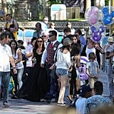 Victoria Beckham, David Beckham and their kids, Harper Beckham, Brooklyn Beckham, Romeo Beckham, and Cruz Beckham made their way around Disneyland.