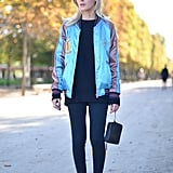 Pair Subtle Leggings With Something Colourful